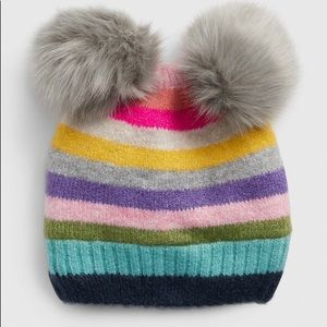 GAP Toddler Crazy Stripe Pom Beanie